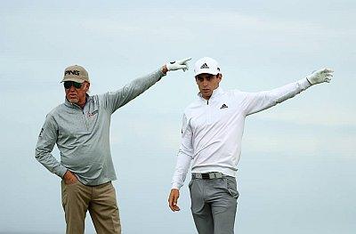 Joaquin Niemann golf pants - first open