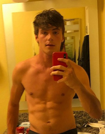 Kevin Quinn shirtless selfie