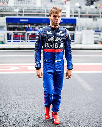 Pierre Gasly red bull suit