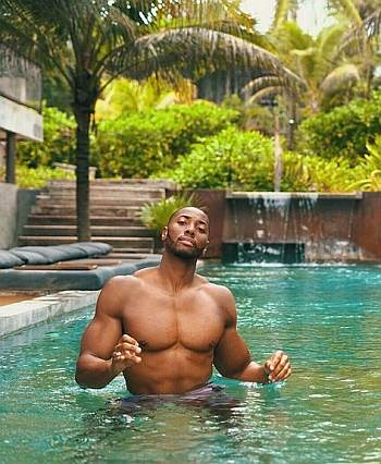 Raymond Baynard shirtless swimmer