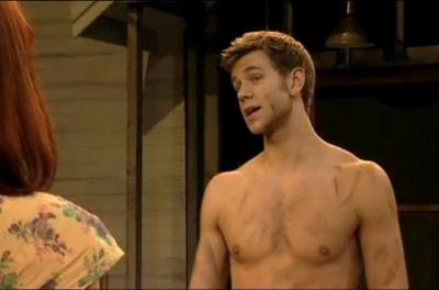 Wilf Scolding shirtless