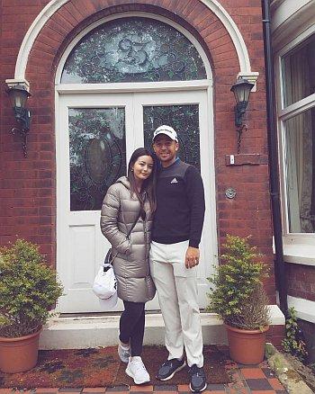 Xander Schauffele wife or girlfriend maya lowe