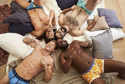 american eagle male underwear models - real men