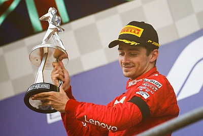 charles leclerc wins - 2019 belgian grand prix trophy