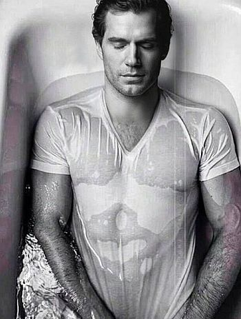 hot wet men in clothes - henry cavill