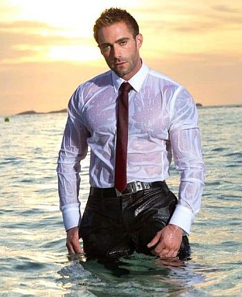 hot wet men in clothes - jake genesis
