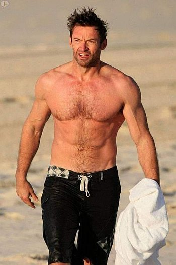 hot wet men shorts - hugh jackman