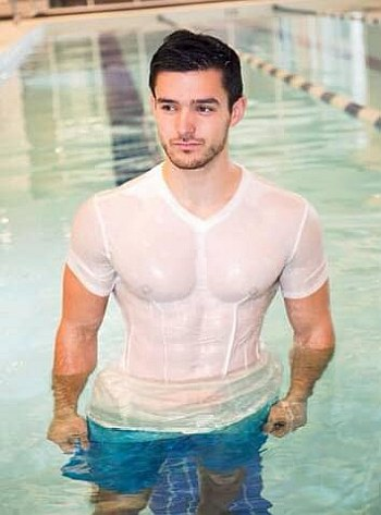 hot wet men white shirt - Cody Ondrick Mr USA 2017