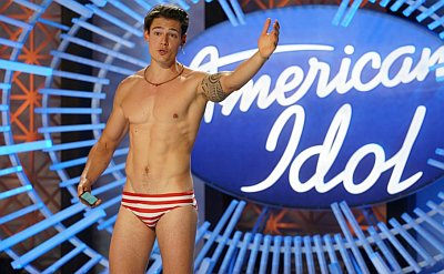 men in speedo - Mario Adrion american idol