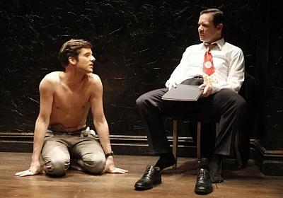 michael urie shirtless in the temperamentals with Thomas Jay Ryan