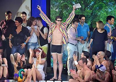 michael urie underwear in broadway bares