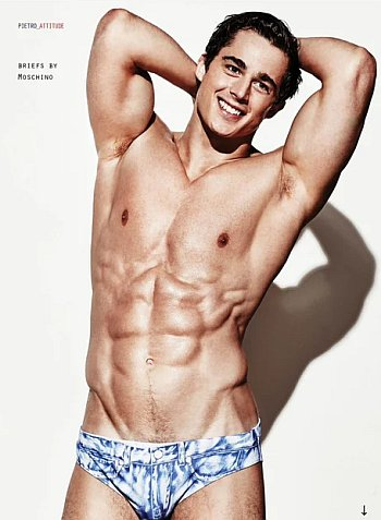 moschino male underwear model - pierto boselli