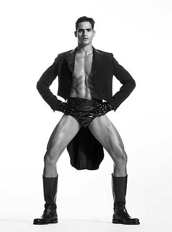 moschino male underwear models - Jhona Burjack