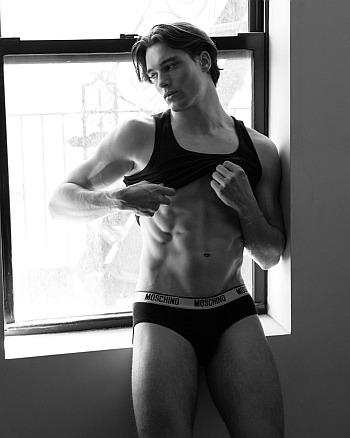 moschino male underwear models - Mason McKenrick