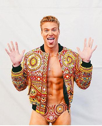 moschino male underwear models - matthew noszka
