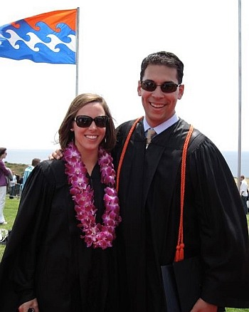 stefan holt pepperdine graduation with wife