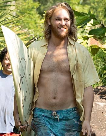 wyatt russell shirtless body in lodge 49