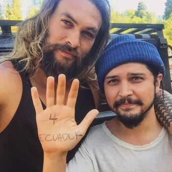 augusto aguilera with jason momoa