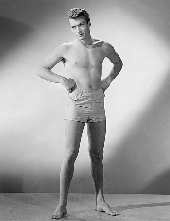 hot vintage men clint eastwood underwear model - boxer shorts
