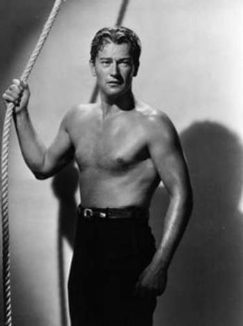 hot vintage men shirtless - john wayne