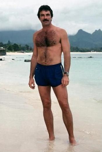 hot vintage men shorts tom selleck