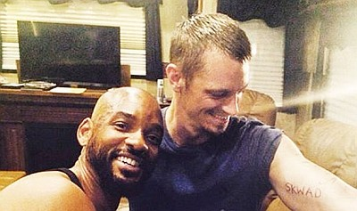 joel kinnaman gay with will smith in suicide squad