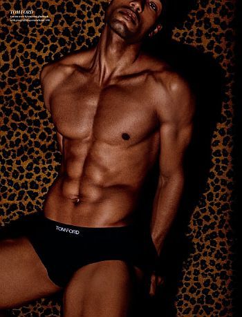 tom ford male underwear models - Michael Ayeboua