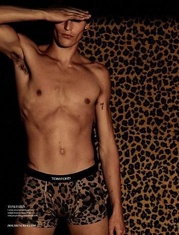 tom ford male underwear models - Parker van Noord