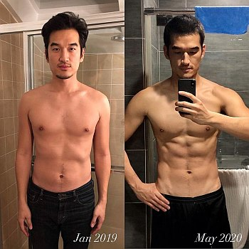 tony chung abs workout body transformation