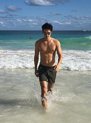 tony chung shirtless beach
