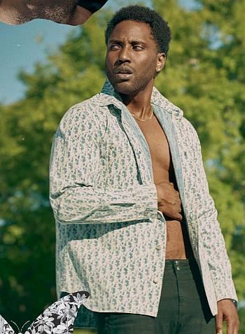 John David Washington shirtless black model