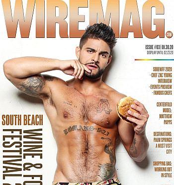 Matt Pappadia shirtless cover model wiremag
