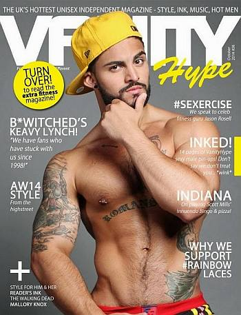 Matt Pappadia shirtless cover model