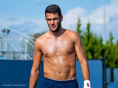 Matteo Berrettini shirtless body