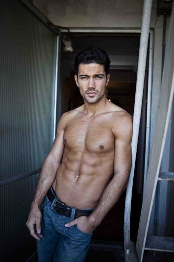Ryan Paevey shirtless in jeans