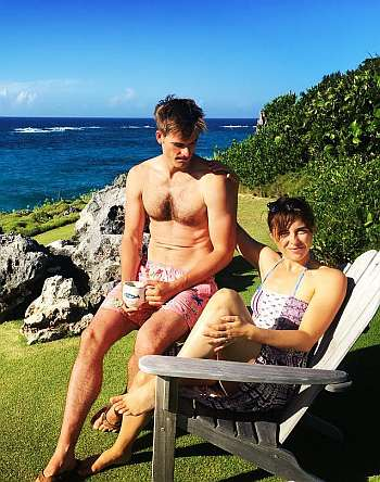 andy ridings shirtless with wife