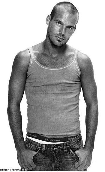 bald male models fredrik ljungberg calvin klein underwear
