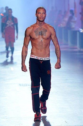 bald male models jeremy meeks for phillip plein