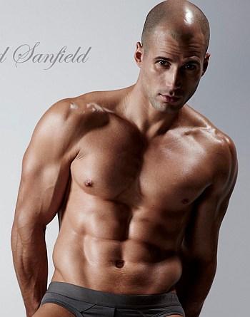 bald male underwear model todd sanfield