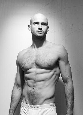bald male underwear models christian monzon for dolce gabbana