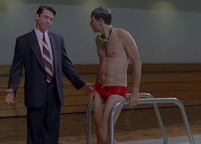 david duchovny red speedo young