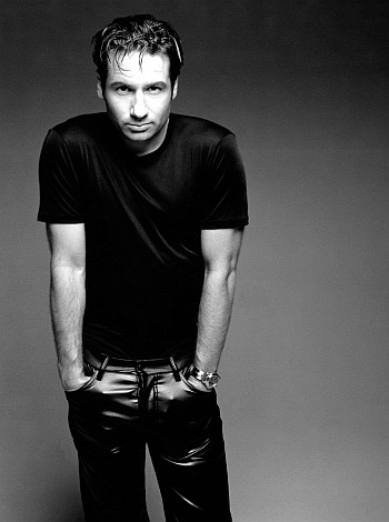 david duchovny young in leather pants