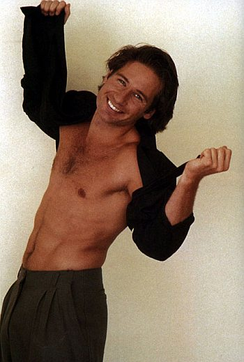 david duchovny young shirtless