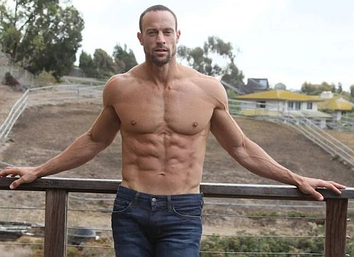 gabe kapler hot and shirtless in jeans