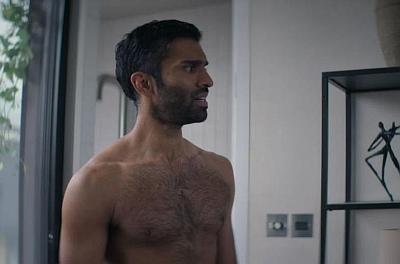 nikesh patel body and chest hair in starstruck