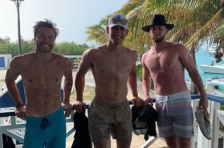 peyton meyer shirtless with blake porter and dylan orlando