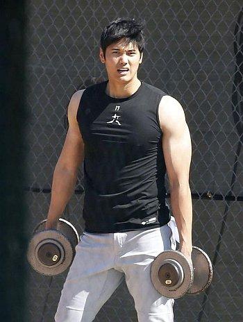 shohei ohtani hot biceps