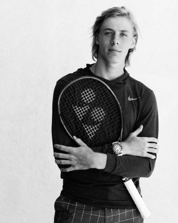 Denis Shapovalov modeling photos