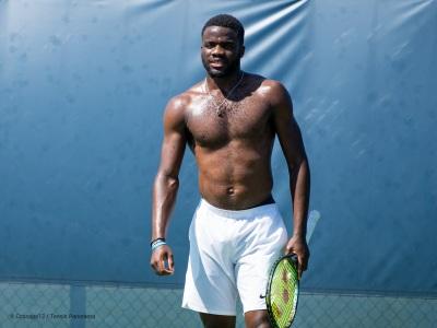 Frances Tiafoe shirtless tennis player