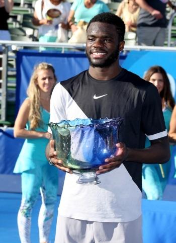 Frances Tiafoe tennis trophy delray beach